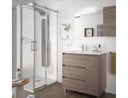badezimmer badmöbel auf dem boden 85 cm aus eiche eternity holz mit porzellan waschtisch zubehör standard abmessungen 85 cm