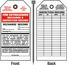 Recharge Inspection Record Tag