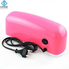 professional nail gel uv l ophir pink professional 9 w nail gel uv l led light dryer