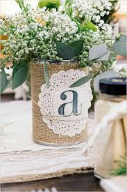 Rustic Ideas For Wedding Can With Burlap And Doillie Monogram