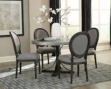 5 PC ROUND HAND HAMMERED METAL DINING TABLE GREY GRAY CHAIRS FURNITURE SET SALE