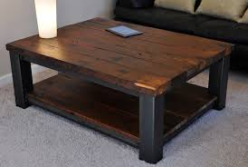 Image Of Square Rustic Coffee Table Dimensions
