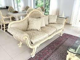 wohnzimmer 3 sofas couchtisch silik italien creme weiß barock