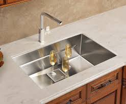 Overmount Kitchen Sinks Stainless Steel by Stylish Black Polished Double Bowl With Square Shaped Drop In