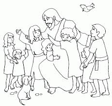 Widescreen Coloring Free Printable Jesus Pages About Loves The Little Children Az
