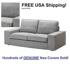 ikea kivik loveseat 2 seat sofa cover slipcover isunda gray grey