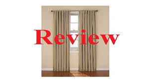 Sundown By Eclipse Curtains by Eclipse Blackout Curtain Review Youtube