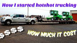 100 Hotshots Trucking How I Started Hotshot And Start Up Cost YouTube