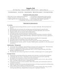 Resume Objective Examples Customer Service For With Example Of A