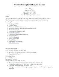 resume sle for front desk receptionist topshoppingnetwork com