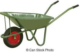 wheelbarrow 1 vector realistic green wheelbarrow on white