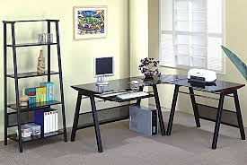 contemporary l shaped home office set office sets