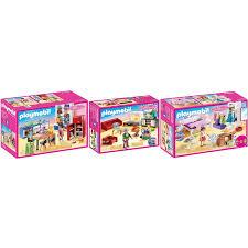 playmobil 70206 07 08 dollhouse 3er set küche wohnzimmer