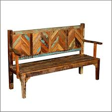 Nice Distressed Wood Chandelier Parquet Reclaimed Rustic High Back Porch Bench Outdoor Benches San Francisco