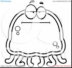 fabulous jellyfish clip art black and white with jellyfish coloring page and jellyfish coloring page for