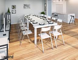 100 White Gloss Extending Dining Table And Chairs Elegant Tiny Titan Transforming