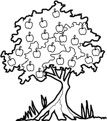 Apple Tree In The Forest Colouring Page Coloring