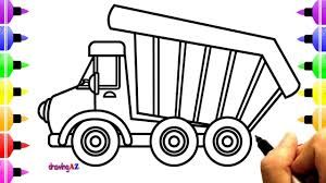 How To Draw A Dump Truck For Kids | Children's Coloring Book With ... Dump Truck Coloring Page Free Printable Coloring Pages Drawing At Getdrawingscom For Personal Use 28 Collection Of High Quality Free Cliparts Cartoon For Kids How To Draw Learn Colors A And Color Quarry Box Emilia Keriene Birthday Cake Design Parenting Make Rc From Cboard Mr H2 Diy Remote Control To A Youtube