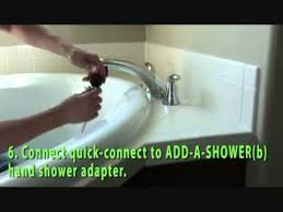 Delta Garden Tub Faucet Removal by How To Add A Shower To Your Roman Tub Faucet Youtube