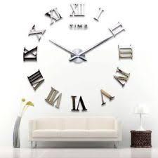 Horloge Mural 3d Achat Vente Pas Cher Horloges Murales Pour La Maison Ebay