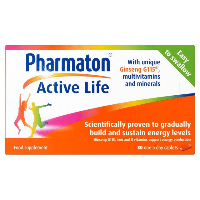 Pharmaton Active Life Food Supplement - 30 Capsules
