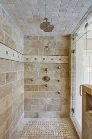 interesting larger tile layout for a shower pair with a yellow