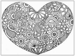 Heart Abstract Doodle Zentangle Paisley Coloring Pages Colouring Adult Detailed Advanced Printable Kleuren Voor Volwassenen Coloriage