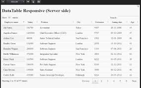 DataTable Responsive Server side