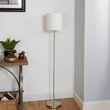 Mainstays Floor Lamp With Reading Light Assembly by Mainstays Brushed Nickel Stick Floor Lamp Cfl Bulb Included