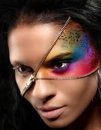 Halloween Half Mask Makeup by 65 Halloween Makeup Ideas To Try This Year Brit Co