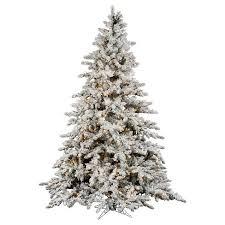 75ft Pre Lit Artificial Christmas Tree Full White Flocked Pine