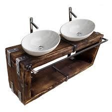 badmöbel waschtisch boryslaw bad waschbecken hängeschrank waschtischunterschrank waschbecken unterschrank metall holz loft handmade 180 x 28 cm h 40