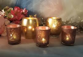 Gold Mercury Glass Bath Accessories by 30 Rose Gold Mercury Glass Votive Candle Holders Parties