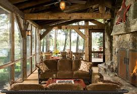 Rustic Style Interior Fit The Spacious Accomodation Cottage Townhouse Villa Etc Design Of House Is A Wood And Stone