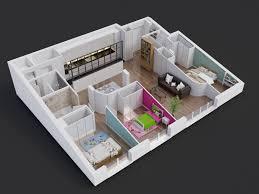 appartement avec une chambre avant après comment passer de 2 à 3 chambres dans 80 m