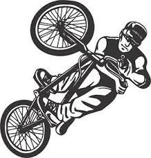 Bmx Bike Action Vinyl Wall Art Sticker