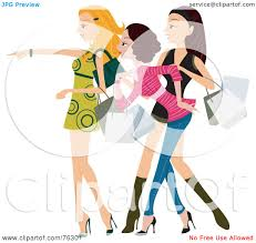 royalty free rf clipart illustration of a group of stylish young