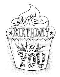 Hand Drawn Happy Birthday to You Cupcake royalty free stock illustration Más