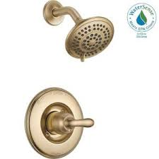Delta Lahara Faucet Champagne Bronze by Delta Lahara 2 Handle Deck Mount Roman Tub Faucet Trim Kit Only In