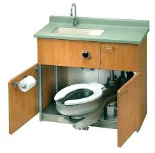 Smallest Camper With Bathroom Compact Toilet And Sink For Small Trailer