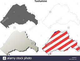 Tuolumne County California Outline Map Set