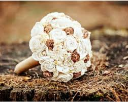 Rustic Babys Breath Maroon Wedding Bouquet Dark Red Bridal