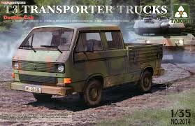 100 Plastic Model Trucks T3 Transporter Double Cab Model Car