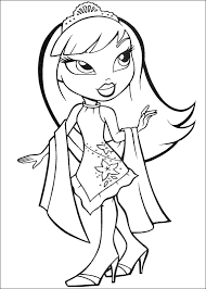 Bratz Dolls Coloring Pages For Kids Printable
