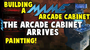 Xtension Arcade Cabinet Uk by Building A Mame Arcade Cabinet Cabinet Arrives U0026 Painting Youtube