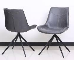2 er set stuhl lewis anthrazit schalenstuhl
