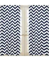 Sweet Jojo Chevron Curtains by Great Deals On Navy Blue Curtain Panels