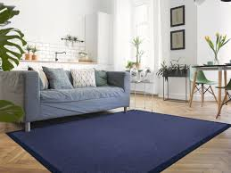 sisal teppich mio nachtblau mit baumwollbordüre 67 x 133 cm