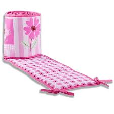 Dream Me Pink Butterfly and Flower Portable Crib Bumper