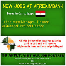 Work In Africa Taxfree Salaries With Afreximbank Africa Recruitment